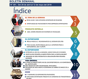 Boletín Semanal Perú Exporta: Reino Unido y ADEX apoyarán exportación de regiones.