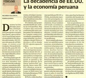 La decadencia de EE.UU. y la economía peruana