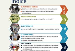Boletín Semanal Perú Exporta N° 305: Exportación no tradicional generó cerca de 600 mil empleos.